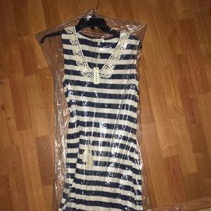 Max studio size medium striped dress